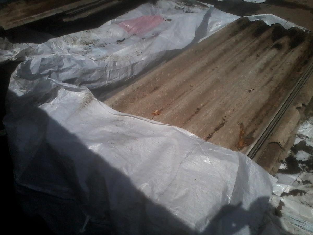 Asbestzementabfälle - 5,5 m³