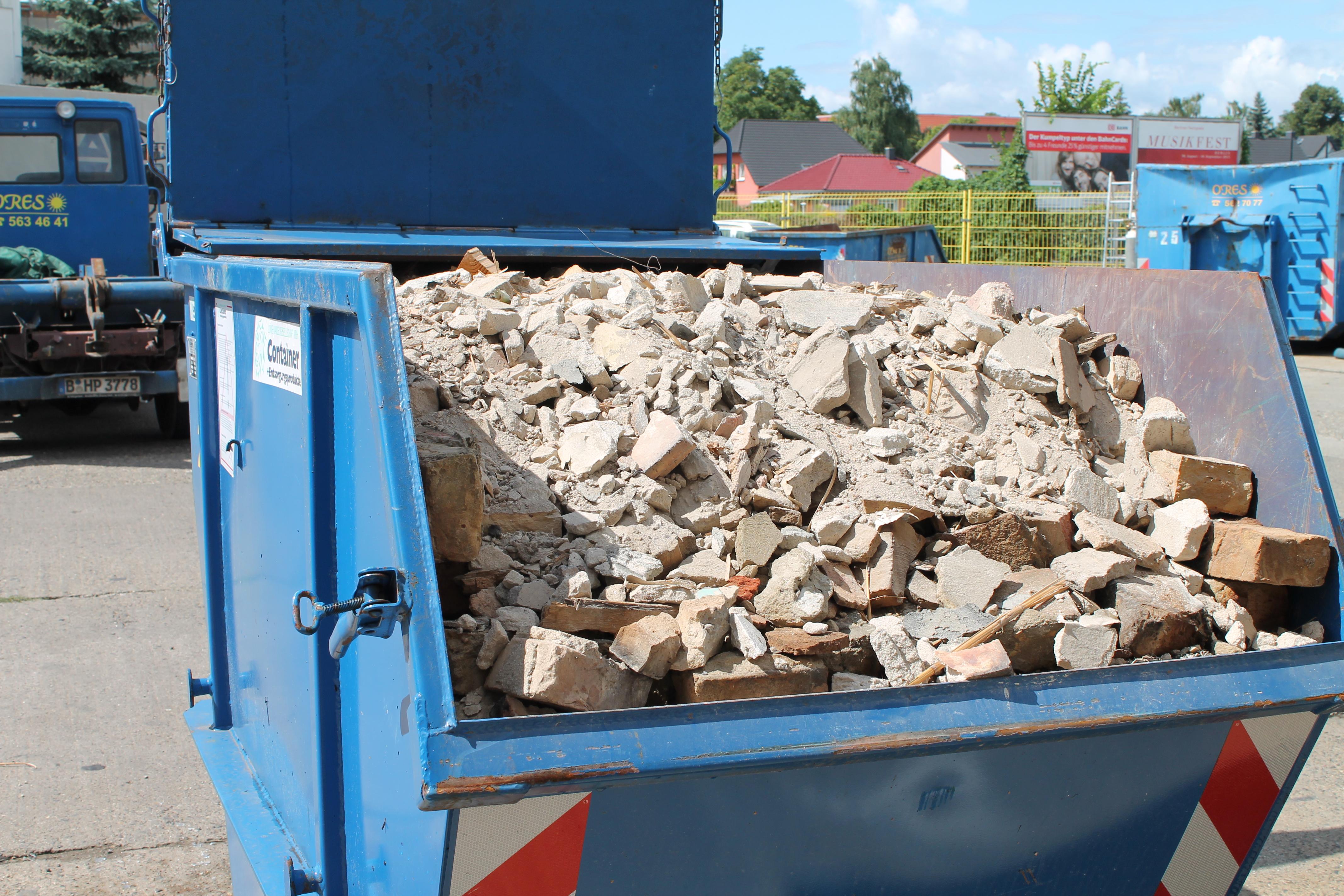 Mineralischer Bauschutt ohne Gips- und Eternitanteile - 5,5 m³